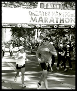 Qualifying for Boston at the Hartford ING Marathon in October 2006!