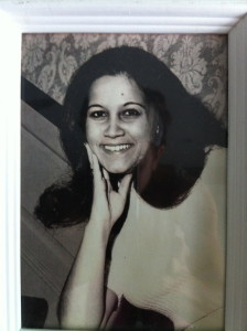 This is a picture of my mom from her college days.  Look like anyone you know?