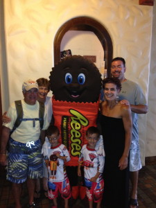 What?  You don't have a family photo with Reese's Peanut Butter Cup man?