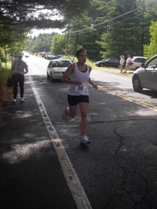Don't I look strong here?...or maybe more like just praying I make it to the finish?  A little of both.