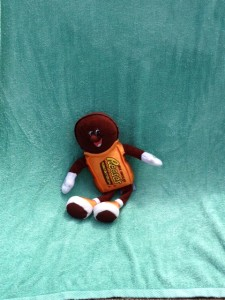 At least Reese's Peanut Butter Cup man was able to relax!