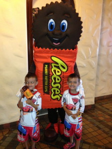 How many times have you seen a real life Reese's Peanut Butter Cup man?