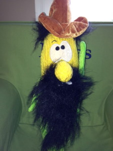 You know you want a bearded corn man with a cowboy hat.  Don't get jealous.
