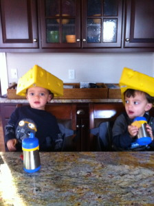 My kids, of course, are also cheese heads!