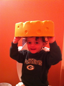 Even on the potty!  This is dedication people.