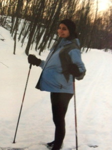 I was able to get out and do some x-country skiing.  Because that's important and not dangerous at all.