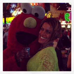 Even Elmo is getting his drink on!