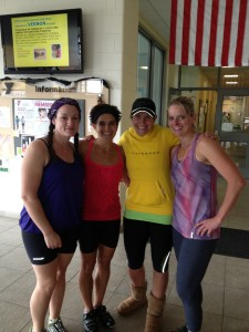 The Mighty Four instructors: Joy, Me, Kendra & Heather!