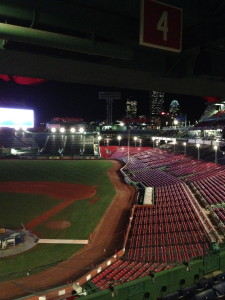 We dined overlooking Fenway Park.  Not too shabby.