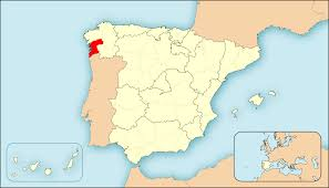 Pontevedra is the little tiny part in red and Portugal is below in tan.  Little and tan remind you of anyone?