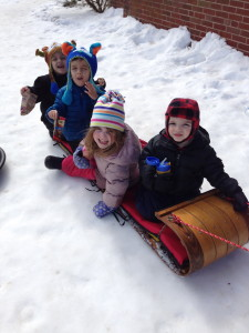 How many cousins can you fit on one toboggan?