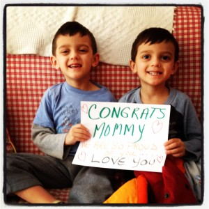 I also love these guys who were staying with my Aunt and sent me this about an hour after the finish!  Best.thing.ever.