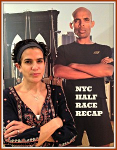 One of my running heroes - Meb Keflezighi - with our game faces on!