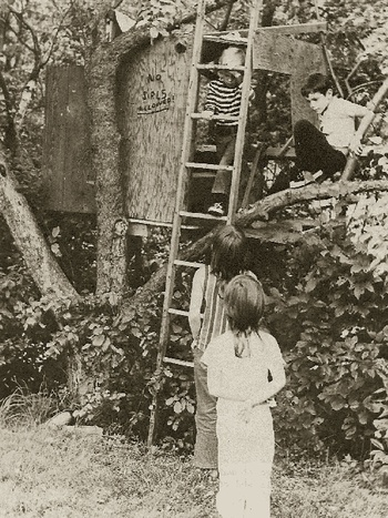 The children studied by Roger Hart in the 1970s spent much of their free time out of sight of parents, in secret places all their own. (Roger Hart)