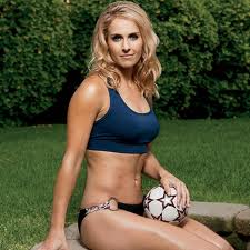 "Heather Mitts - USA Soccer.  I got this picture from Men's Health from an article titled ""Hottest Female Athletes.""  Point made."