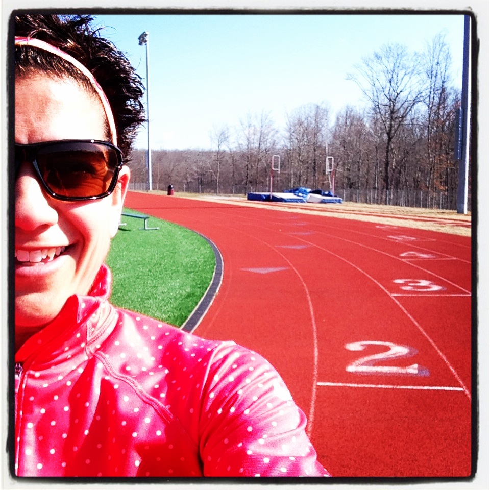 So this is what an outdoor track looks like!?  Now what's that fireball in the sky all about?
