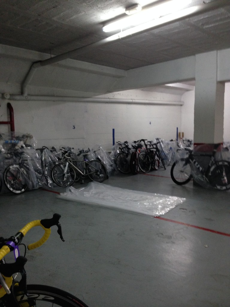 The bike dungeon.