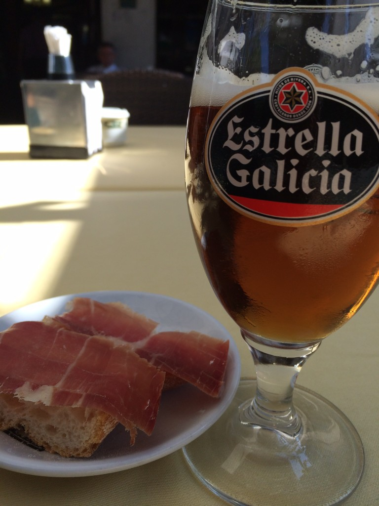 My staples: bread, cheese, prosciutto and BEER!  I went to the right place for carbs.