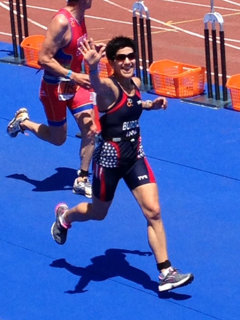 Finish line - World Championship Duathlon in Spain, 2014.