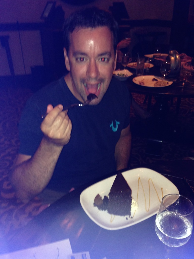 Or a giant piece of chocolate cake...
