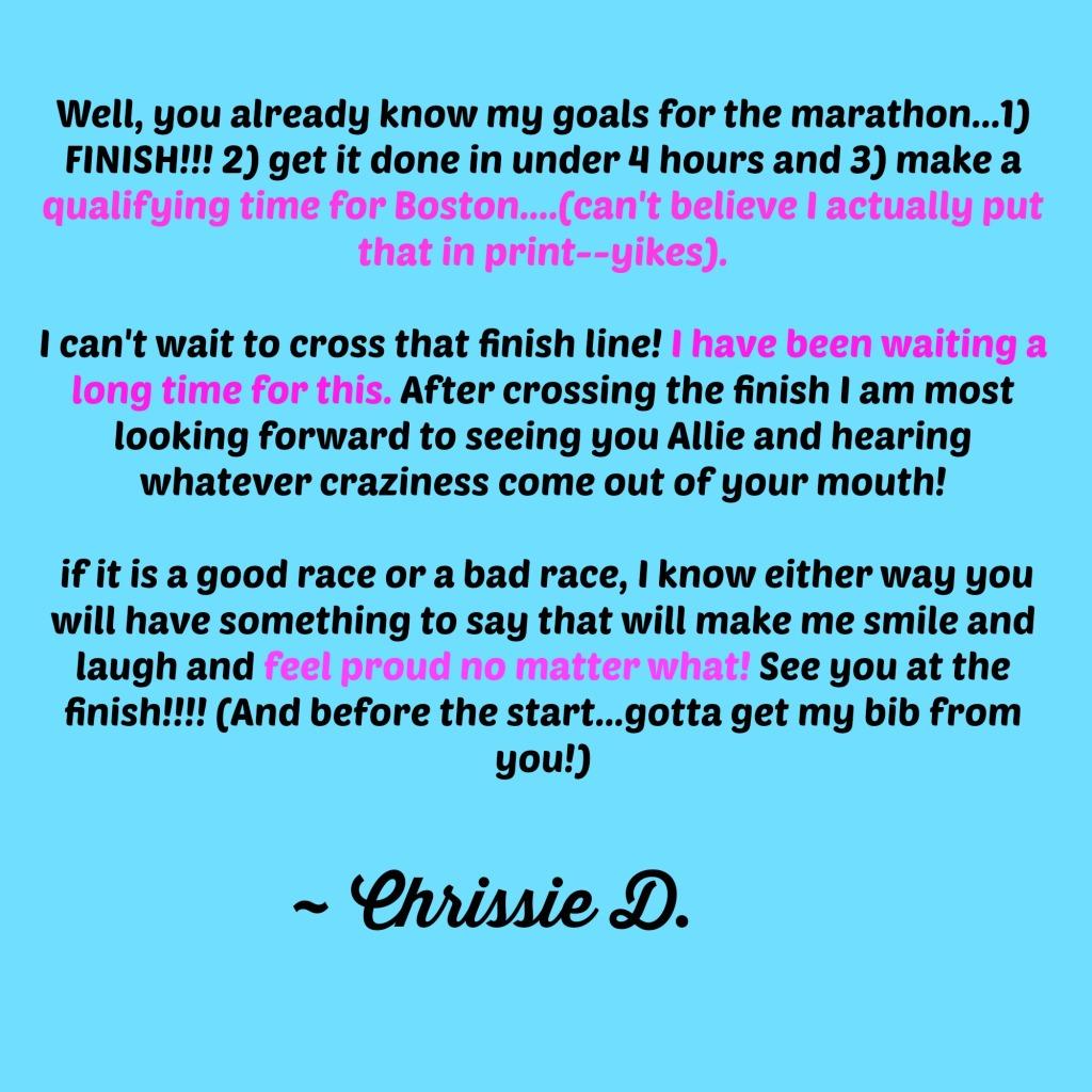 RaceGoalsChrissie