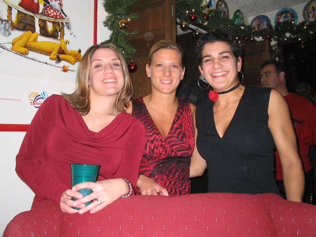 Doreen, Julie and I at one of my dad's infamous Christmas parties.