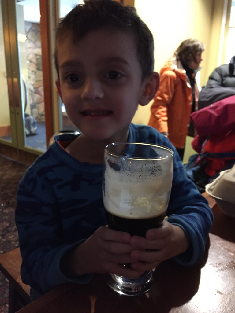 He's a Guinness man.
