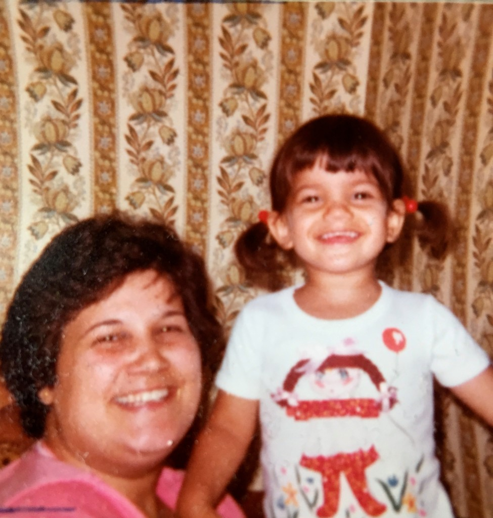Me and my mom hanging out happily in 1980.