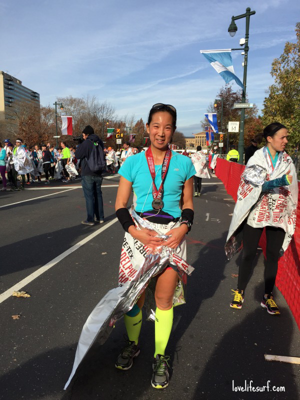 Finished! Philly half-marathon.