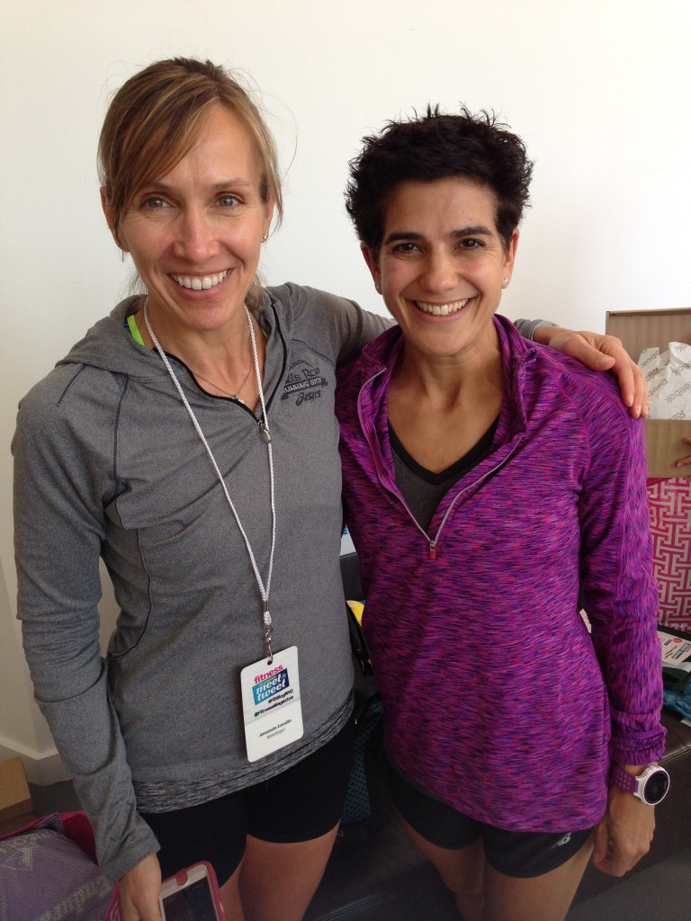 VITA and Miss Zippy in the flesh at Fitness magazine Meet and Tweet in NYC this past October.