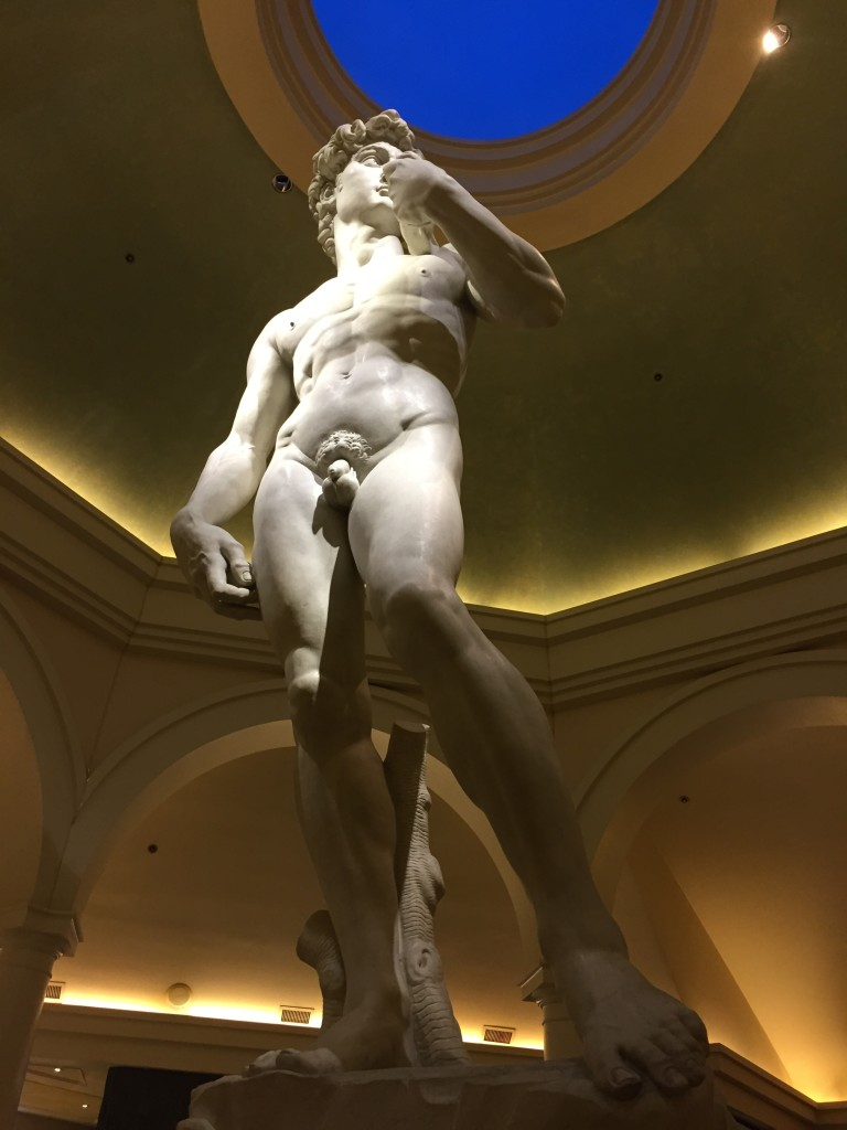 If anyone should see a urologist, it's this guy. You know, just the statue of David in Caesar's Palace.