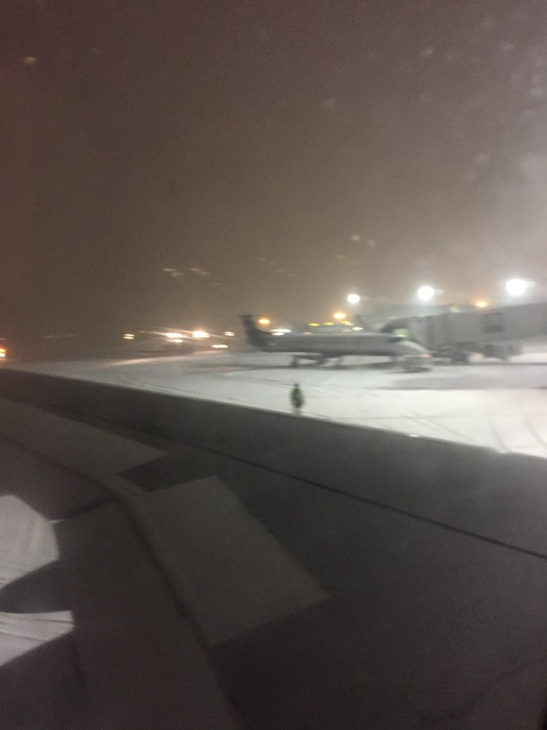 This is not the view I wanted although I was just happy to be on the ground in Hartford! All those lights are plows clearing the runways.