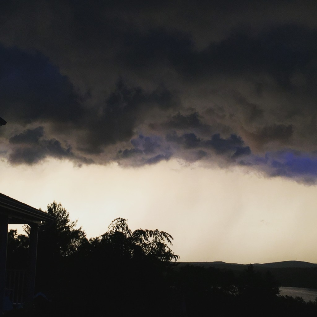 This crazy storm rolled in making very few good OWS and outdoor cycling days.