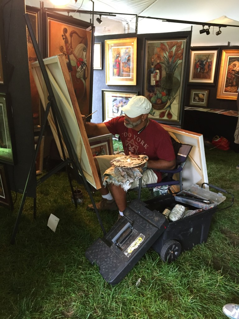 One of the amazing artists at the festival putting on a show of his own.