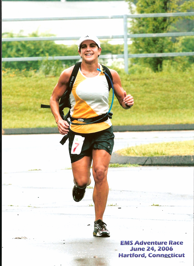 Yours truly wearing the fanny pack hydration system during an Adventure Race in 2005.