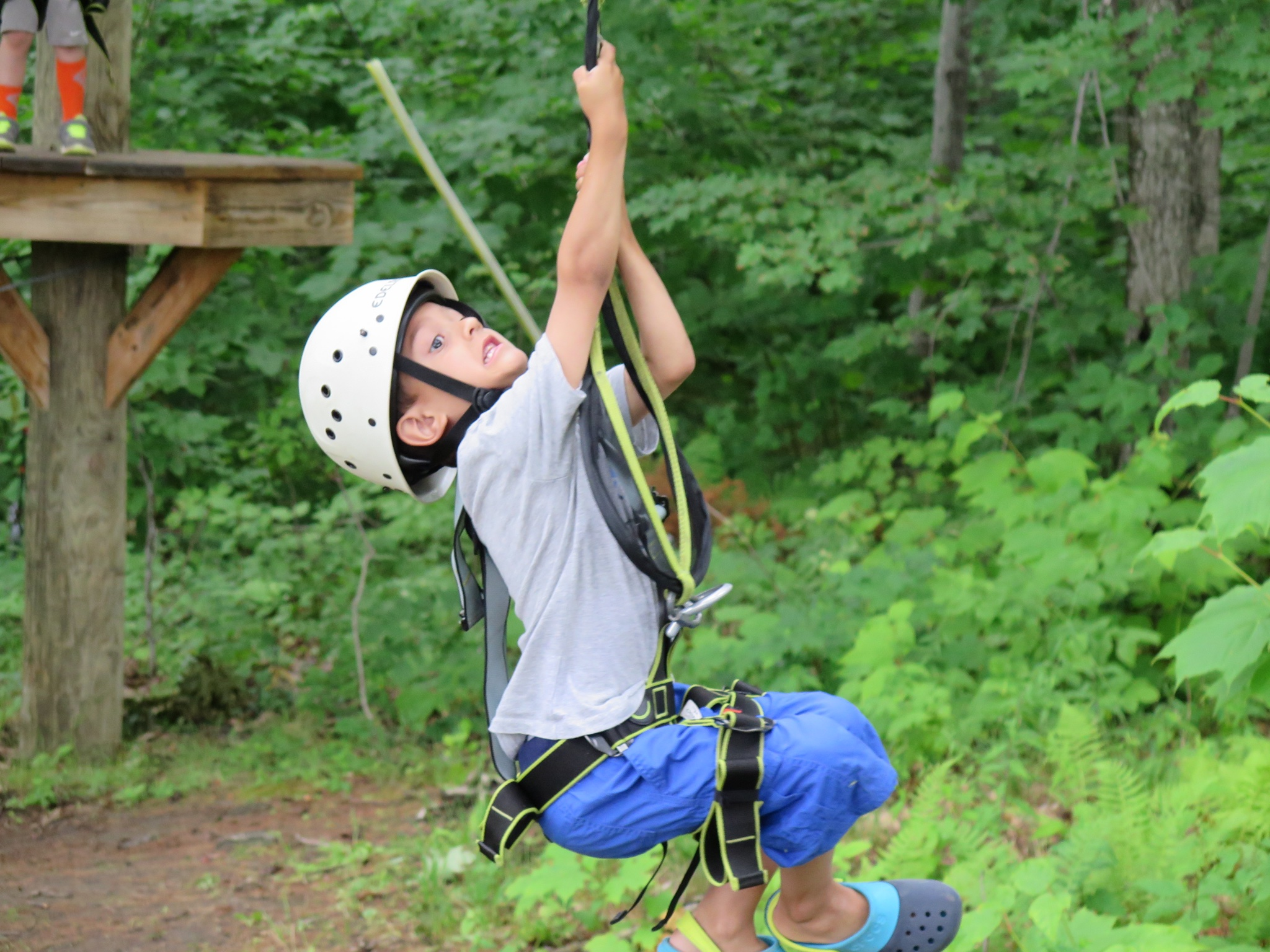 Questions you ask yourself on a ropes course and zip line video i stayed on the ground because i wanted to hover watch the boys and make sure they didnt fall three feet onto the ground we said we would return and do it solutioingenieria Choice Image