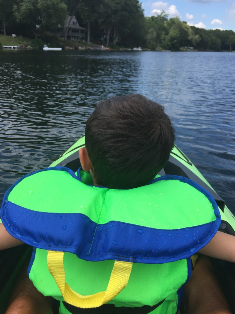 Kayaking is a total upper body and core workout, especially when you add another 45 pounds of love. #BestBuddy