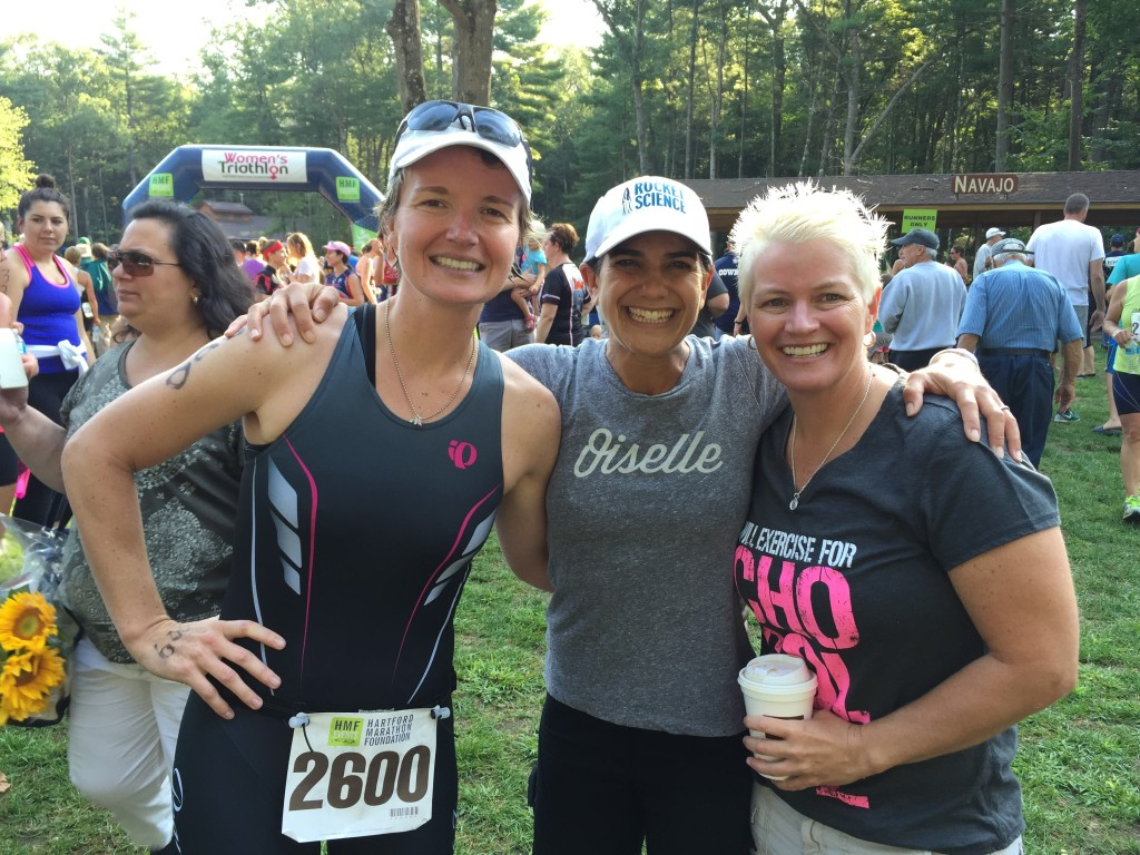 Michelle (on the left) also had an amazing race but her younger age group proved to be the hardest one in this race.