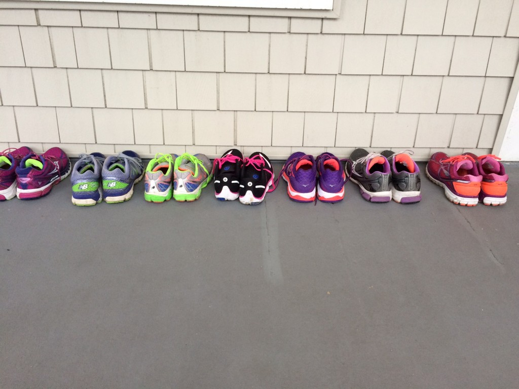 It was so great to see all the running shoes lining the porch instead of the usual Crocs thrown everywhere!