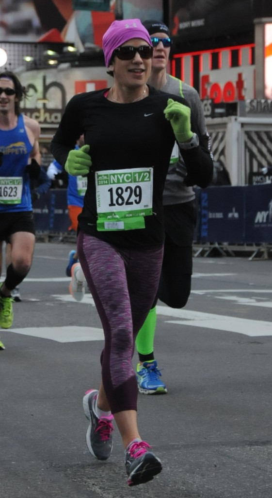 My qualifying half marathon in NYC, March 2014. I absolutely loved this race!