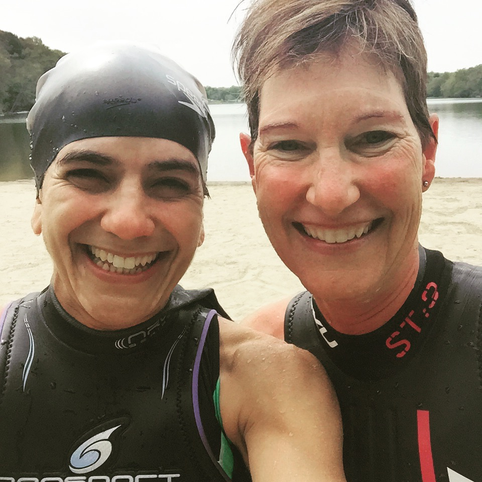 Me and my coach doing one of many open water swims!