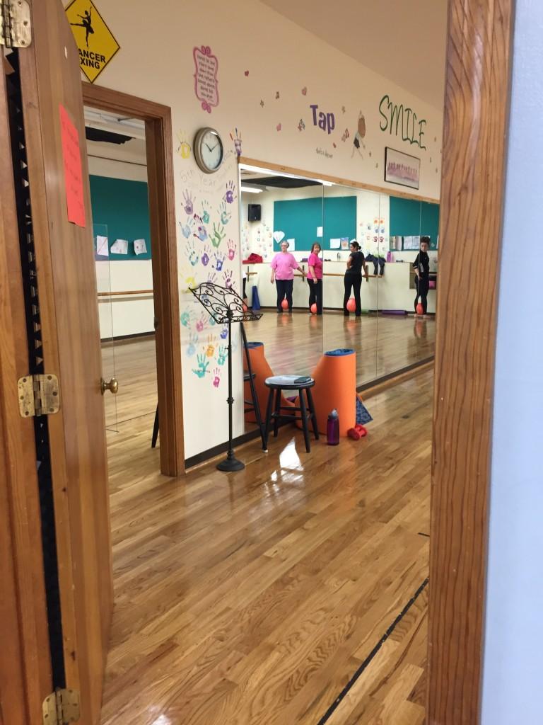 Peering into the class door...