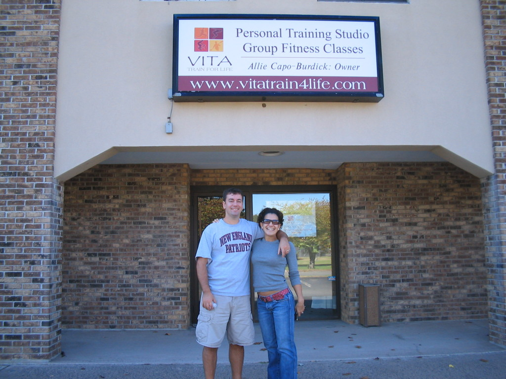 Just before my grand opening (with my husband) in 2006!