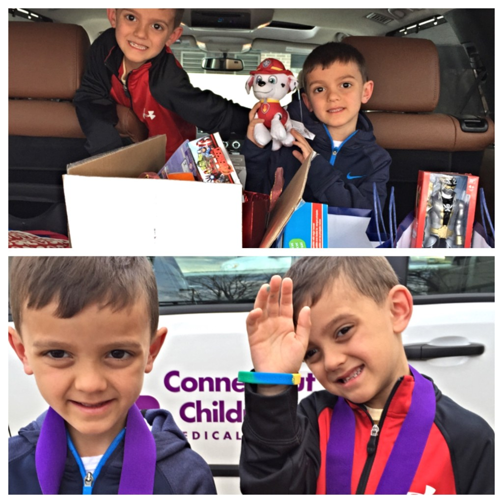 Last April when they begrudgingly donated all their birthday gifts to the Children's Hospital and received a medal in return.