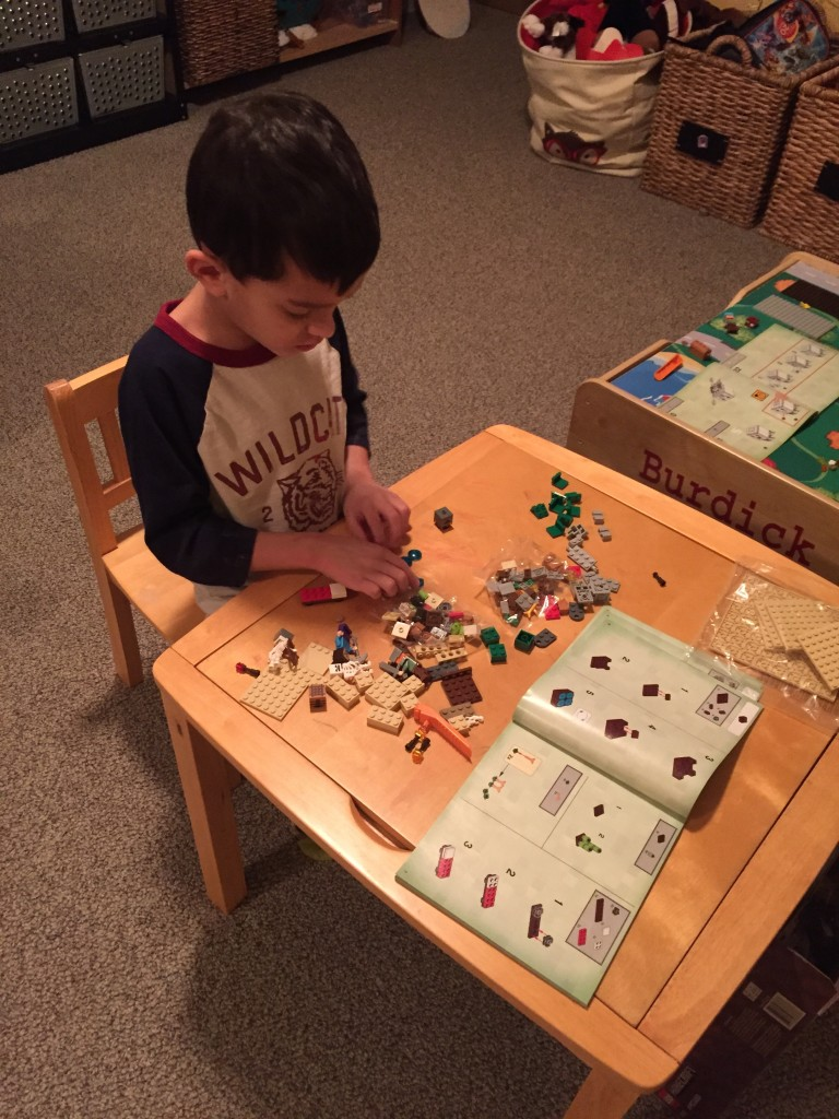 Yes, I would love to spend three more hours doing Minecraft Legos!