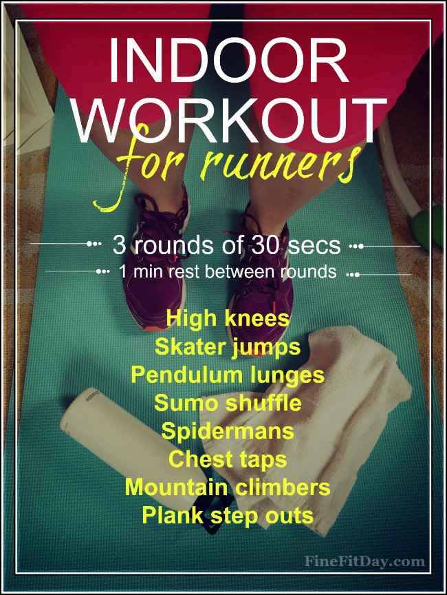 Indoor workout pin exercises