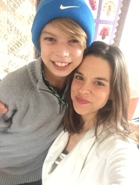 Jen and her son Tucker