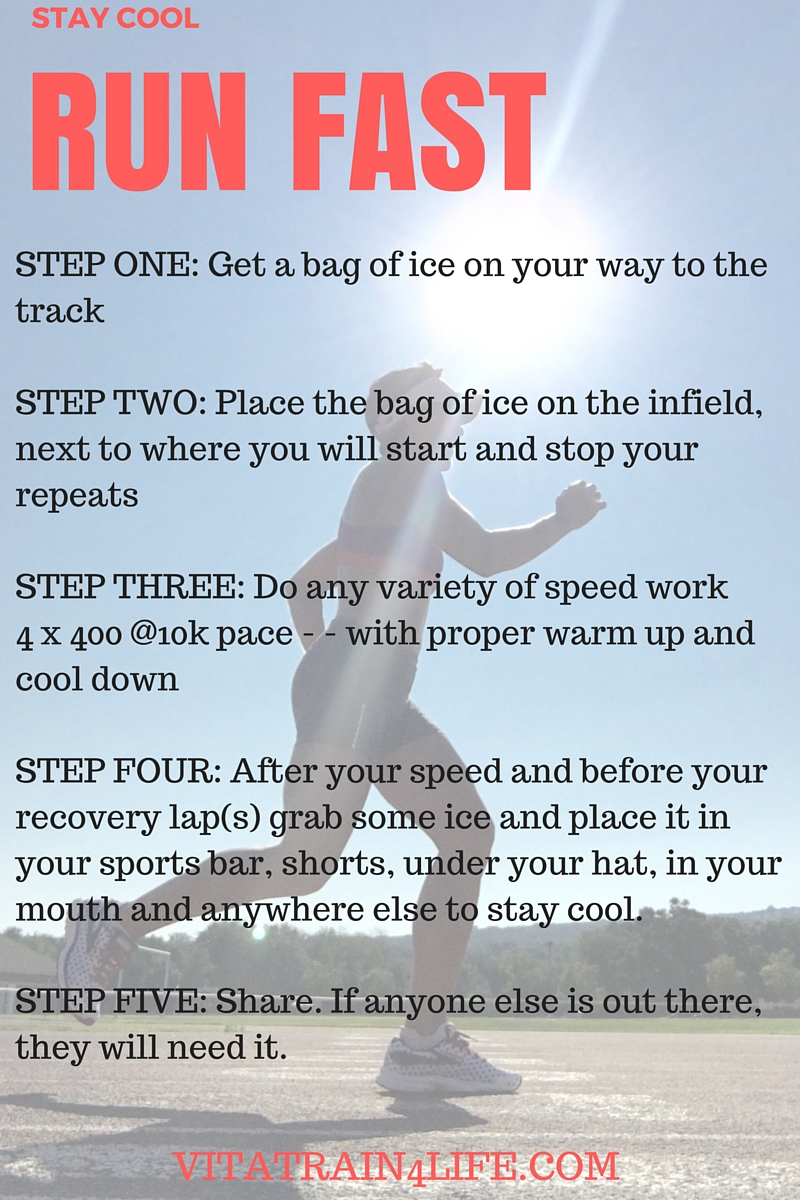 Run Fast and Stay Cool - 6 Speed Workouts for Runners - VitaTrain4Life
