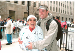 After finishing the Boston Marathon in 2007. I was just a tad excited.