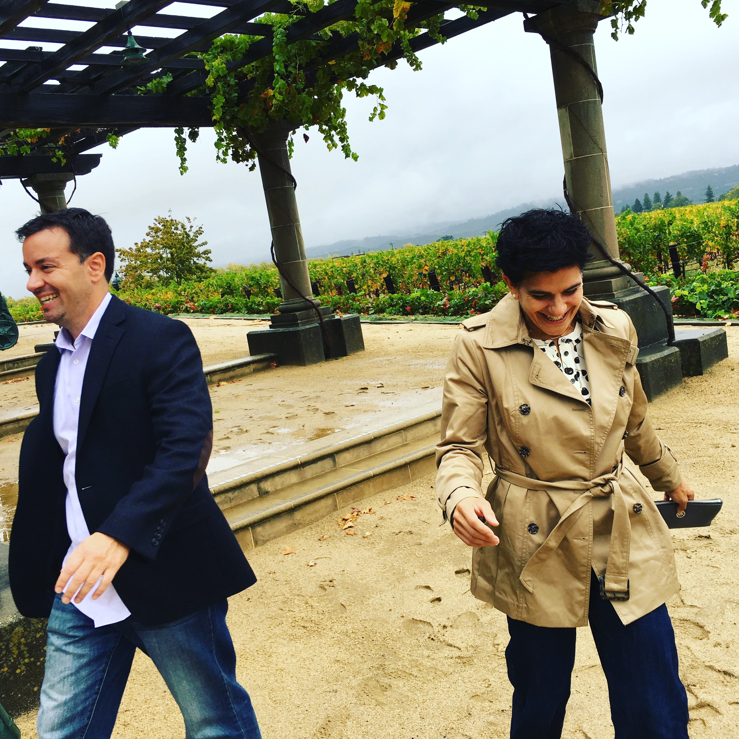 There was a lot of laughing on the wine tours!